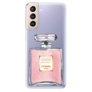 Odolné silikonové pouzdro iSaprio - Chanel Rose na mobil Samsung Galaxy S21 5G