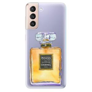 Odolné silikonové pouzdro iSaprio - Chanel Gold na mobil Samsung Galaxy S21 5G
