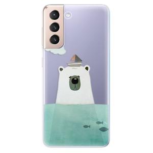 Odolné silikonové pouzdro iSaprio - Bear With Boat na mobil Samsung Galaxy S21 5G