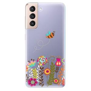 Odolné silikonové pouzdro iSaprio - Bee 01 na mobil Samsung Galaxy S21 5G