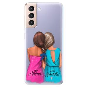 Odolné silikonové pouzdro iSaprio - Best Friends na mobil Samsung Galaxy S21 5G