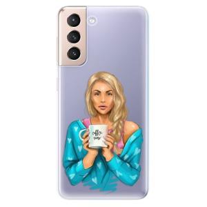 Odolné silikonové pouzdro iSaprio - Coffe Now - Blond na mobil Samsung Galaxy S21 5G