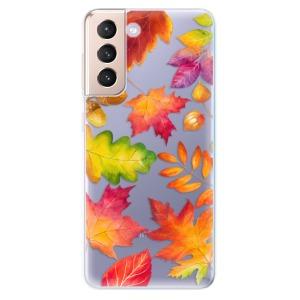 Odolné silikonové pouzdro iSaprio - Autumn Leaves 01 na mobil Samsung Galaxy S21 5G