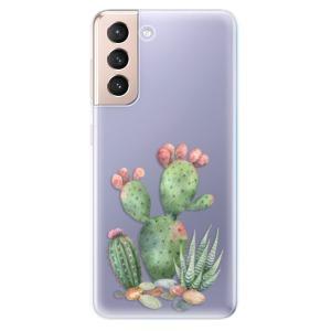Odolné silikonové pouzdro iSaprio - Cacti 01 na mobil Samsung Galaxy S21 5G