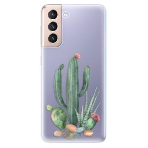 Odolné silikonové pouzdro iSaprio - Cacti 02 na mobil Samsung Galaxy S21 5G