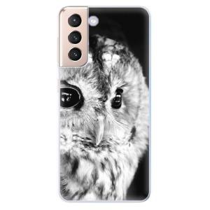 Odolné silikonové pouzdro iSaprio - BW Owl na mobil Samsung Galaxy S21 5G