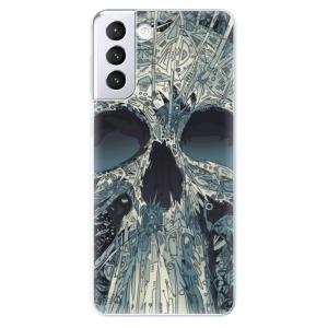 Odolné silikonové pouzdro iSaprio - Abstract Skull na mobil Samsung Galaxy S21 Plus 5G