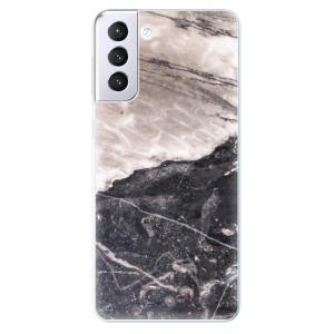 Odolné silikonové pouzdro iSaprio - BW Marble na mobil Samsung Galaxy S21 Plus 5G
