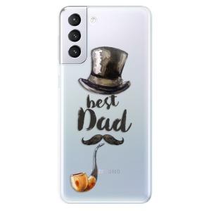 Odolné silikonové pouzdro iSaprio - Best Dad na mobil Samsung Galaxy S21 Plus 5G