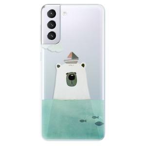 Odolné silikonové pouzdro iSaprio - Bear With Boat na mobil Samsung Galaxy S21 Plus 5G