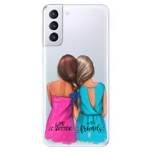 Odolné silikonové pouzdro iSaprio - Best Friends na mobil Samsung Galaxy S21 Plus 5G
