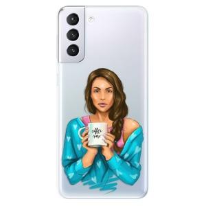Odolné silikonové pouzdro iSaprio - Coffe Now - Brunette na mobil Samsung Galaxy S21 Plus 5G