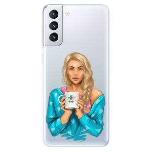 Odolné silikonové pouzdro iSaprio - Coffe Now - Blond na mobil Samsung Galaxy S21 Plus 5G