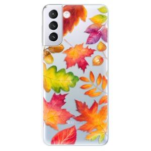 Odolné silikonové pouzdro iSaprio - Autumn Leaves 01 na mobil Samsung Galaxy S21 Plus 5G