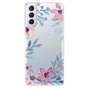 Odolné silikonové pouzdro iSaprio - Leaves and Flowers na mobil Samsung Galaxy S21 Plus 5G - poslední kousek za tuto cenu