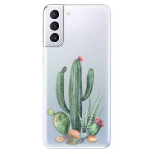 Odolné silikonové pouzdro iSaprio - Cacti 02 na mobil Samsung Galaxy S21 Plus 5G