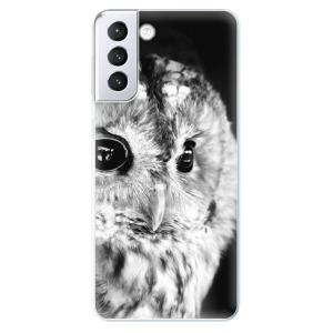 Odolné silikonové pouzdro iSaprio - BW Owl na mobil Samsung Galaxy S21 Plus 5G