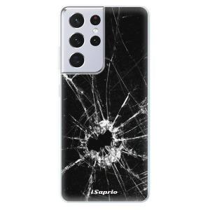 Odolné silikonové pouzdro iSaprio - Broken Glass 10 na mobil Samsung Galaxy S21 Ultra 5G