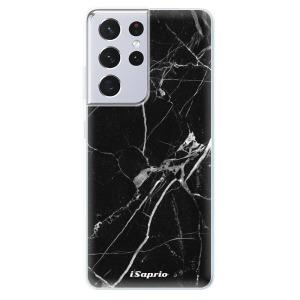 Odolné silikonové pouzdro iSaprio - Black Marble 18 na mobil Samsung Galaxy S21 Ultra 5G
