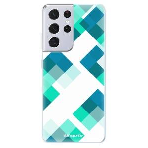 Odolné silikonové pouzdro iSaprio - Abstract Squares 11 na mobil Samsung Galaxy S21 Ultra 5G