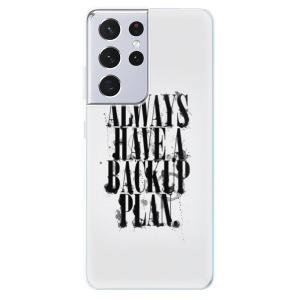Odolné silikonové pouzdro iSaprio - Backup Plan na mobil Samsung Galaxy S21 Ultra 5G