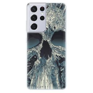 Odolné silikonové pouzdro iSaprio - Abstract Skull na mobil Samsung Galaxy S21 Ultra 5G