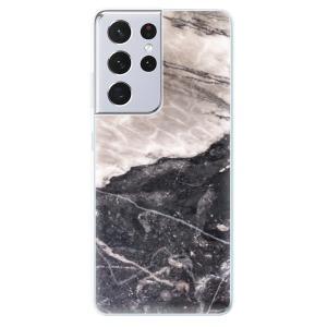Odolné silikonové pouzdro iSaprio - BW Marble na mobil Samsung Galaxy S21 Ultra 5G