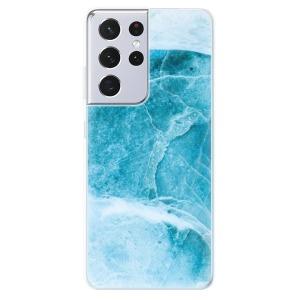 Odolné silikonové pouzdro iSaprio - Blue Marble na mobil Samsung Galaxy S21 Ultra 5G