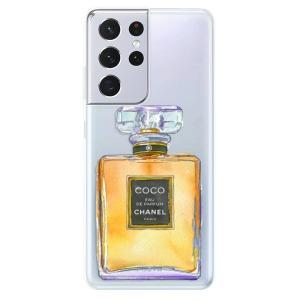 Odolné silikonové pouzdro iSaprio - Chanel Gold na mobil Samsung Galaxy S21 Ultra 5G