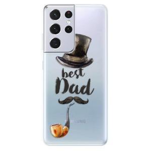 Odolné silikonové pouzdro iSaprio - Best Dad na mobil Samsung Galaxy S21 Ultra 5G