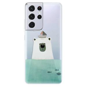 Odolné silikonové pouzdro iSaprio - Bear With Boat na mobil Samsung Galaxy S21 Ultra 5G