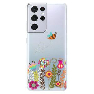 Odolné silikonové pouzdro iSaprio - Bee 01 na mobil Samsung Galaxy S21 Ultra 5G