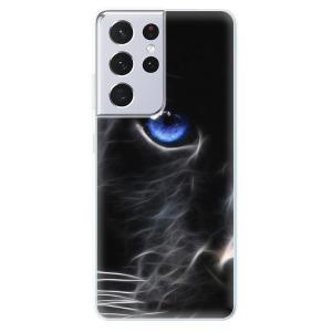 Odolné silikonové pouzdro iSaprio - Black Puma na mobil Samsung Galaxy S21 Ultra 5G - poslední kousek za tuto cenu