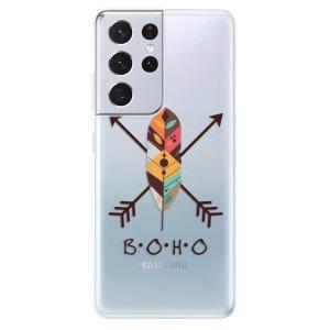 Odolné silikonové pouzdro iSaprio - BOHO na mobil Samsung Galaxy S21 Ultra 5G