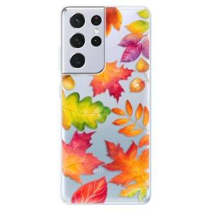 Odolné silikonové pouzdro iSaprio - Autumn Leaves 01 na mobil Samsung Galaxy S21 Ultra 5G