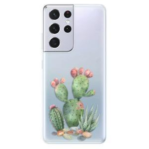Odolné silikonové pouzdro iSaprio - Cacti 01 na mobil Samsung Galaxy S21 Ultra 5G