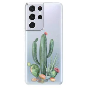 Odolné silikonové pouzdro iSaprio - Cacti 02 na mobil Samsung Galaxy S21 Ultra 5G