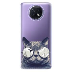 Odolné silikonové pouzdro iSaprio - Crazy Cat 01 na mobil Xiaomi Redmi Note 9T 5G
