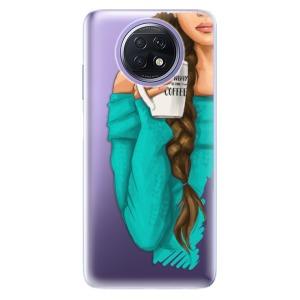 Odolné silikonové pouzdro iSaprio - My Coffe and Brunette Girl na mobil Xiaomi Redmi Note 9T 5G
