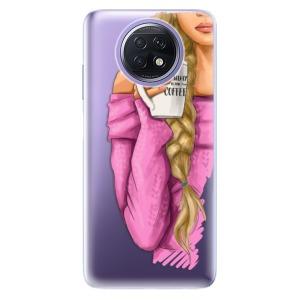 Odolné silikonové pouzdro iSaprio - My Coffe and Blond Girl na mobil Xiaomi Redmi Note 9T 5G