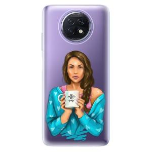 Odolné silikonové pouzdro iSaprio - Coffe Now - Brunette na mobil Xiaomi Redmi Note 9T 5G