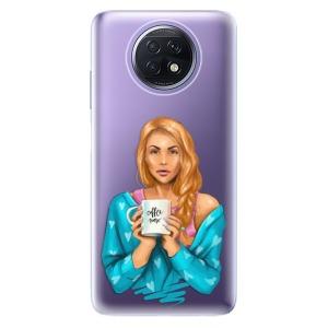 Odolné silikonové pouzdro iSaprio - Coffe Now - Redhead na mobil Xiaomi Redmi Note 9T 5G