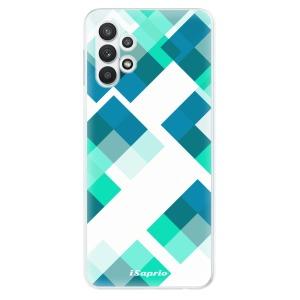 Odolné silikonové pouzdro iSaprio - Abstract Squares 11 na mobil Samsung Galaxy A32 LTE