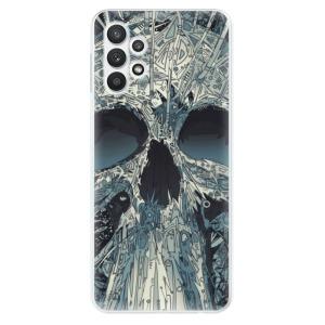 Odolné silikonové pouzdro iSaprio - Abstract Skull na mobil Samsung Galaxy A32 LTE