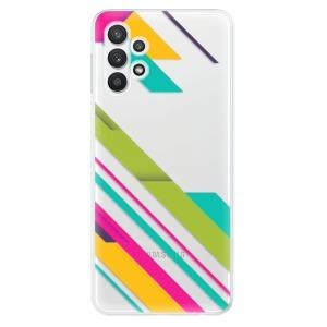 Odolné silikonové pouzdro iSaprio - Color Stripes 03 na mobil Samsung Galaxy A32 LTE
