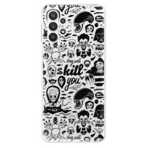 Odolné silikonové pouzdro iSaprio - Comics 01 - black na mobil Samsung Galaxy A32 LTE