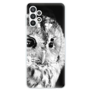 Odolné silikonové pouzdro iSaprio - BW Owl na mobil Samsung Galaxy A32 LTE