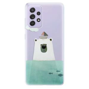 Odolné silikonové pouzdro iSaprio - Bear With Boat na mobil Samsung Galaxy A52 / A52 5G