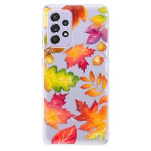 Odolné silikonové pouzdro iSaprio - Autumn Leaves 01 na mobil Samsung Galaxy A52 / A52 5G