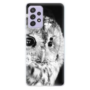 Odolné silikonové pouzdro iSaprio - BW Owl na mobil Samsung Galaxy A52 / A52 5G